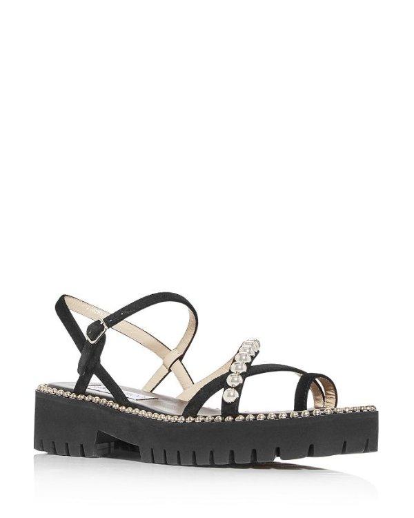 Women's Desi Flat KVO 凉鞋