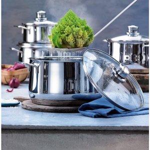 现价仅€32.69 原价€79.99WMF 不锈钢煮锅 16cm直径 防锈防刮 洗碗机适用
