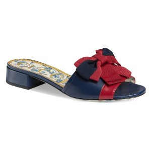 Gucci蝴蝶结拖鞋