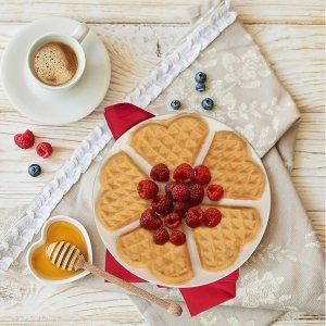 低至7.2折 迷你华夫饼机$24起迷你华夫饼机热卖 爱心、菠萝多款造型 快速搞定早点下午茶