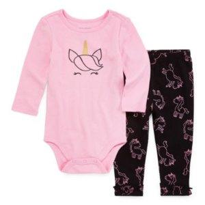 Okie DokieOkie Dokie 2-pc. Bodysuit Set-Baby Girls