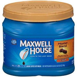 $4.46(原价$5.25)Maxwell House Master 混合轻烤咖啡  26.8 oz