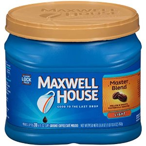 $4.46(原价$6.34)Maxwell House Master 混合轻烤咖啡  26.8 oz