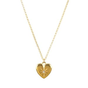 Dogearedbest mom crystal heart necklace