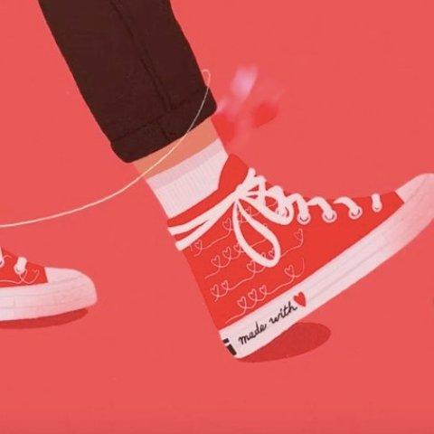 €50起收爱心帆布鞋Converse 情人节系列已发售 打造情人节专属配色