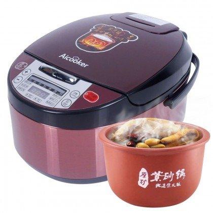 智能养生电饭煲F401B 4L/10杯米 紫砂内胆 原汁原味 美味健康