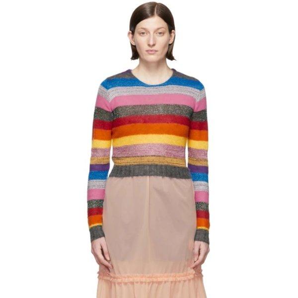 拼色彩虹毛衣