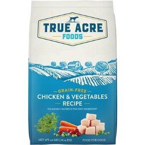 True Acre FoodsChicken & Vegetable Recipe Grain-Free Dry Dog Food, 40-lb bag - Chewy.com