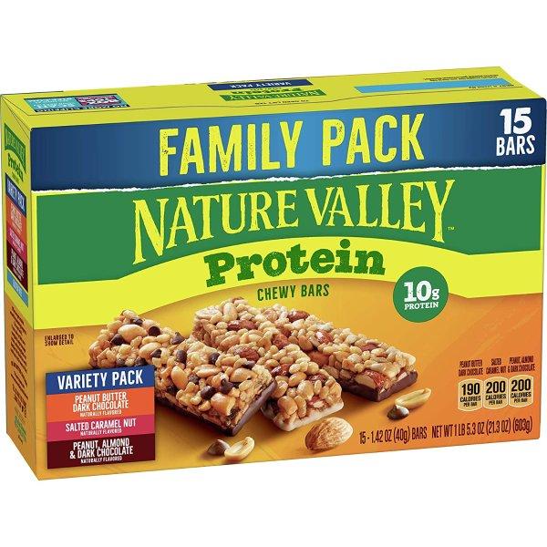 Nature Valley 坚果蛋白质能量棒 15条