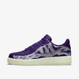 Nike10月28日8AM上架!Air Force 1 万圣节 紫色骷髅