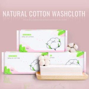 €0.058/张起 实现洗脸巾自由amazon 精选一次性洗脸巾 100%全棉 敏感肌必备
