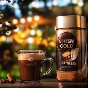 降价$4.72(原价$7.49) 凑单好物NESCAFÉ 雀巢 GOLD 金牌速溶咖啡 100g