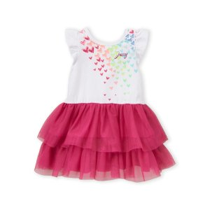 Juicy Couture(Toddler Girls) Rainbow Heart Ruffled Dress