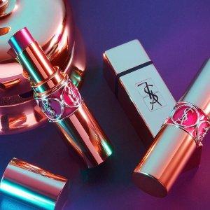 立减$25 低至6.7折最后一天:YSL 美妆产品热卖 收新款细管雾面唇膏,黑管唇釉
