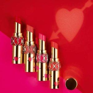 $45+送中样好礼手慢无:Yves Saint Laurent 情人节限量 爱心圆管唇膏 上市热卖