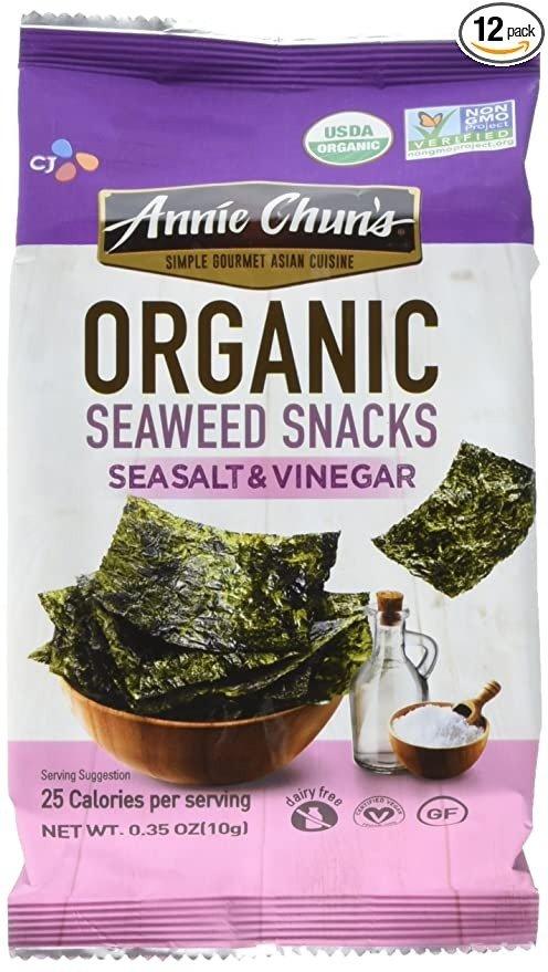 海盐+醋口味有机海苔 0.35oz 12包