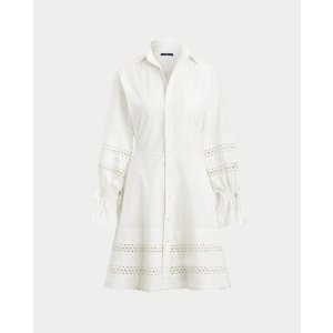Ralph LaurenLace-Trim Broadcloth Dress