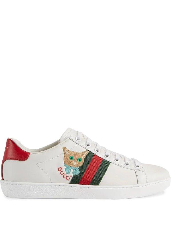 Ace 新款猫咪小白鞋