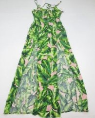 new FOREVER 21 Women's Size S Slit Front Palm Leaf Print Maxi Dress DR1357  | eBay