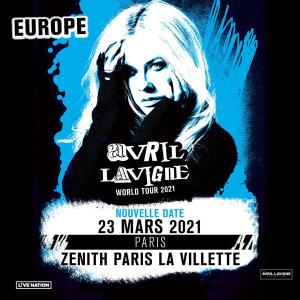 3月23日,票价€50.8起艾薇儿 2021世界巡演巴黎站 摇滚女神涅槃重生