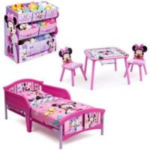 $99.98包邮多种选 立省$48幼儿卧室 桌椅+床套装,送玩具收纳架