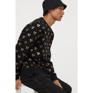 H&M满身米奇 不用买Gucci全身米老鼠卫衣