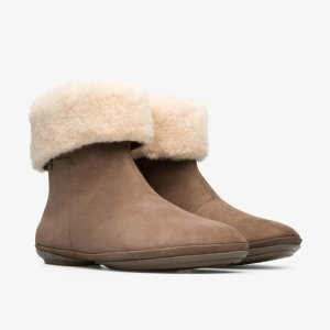 Camper羊毛踝靴