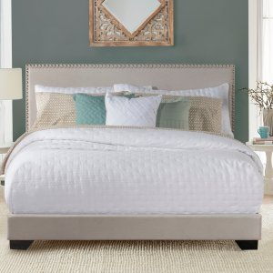 Full $99 Queen $109Willow Nailhead Trim Upholstered Full Bed