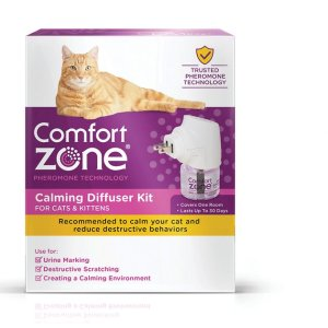 Comfort Zone 2X Pheromone Formula Calming Diffuser Kit for Cat Calming, 1 Diffuser, 1 Refill - Chewy.com