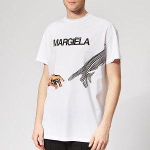 Maison MargielaMen's Mako Cotton Jersey T-Shirt - White