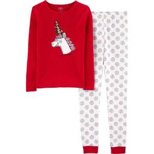 OshkoshSnug Fit Holiday Unicorn Cotton PJs