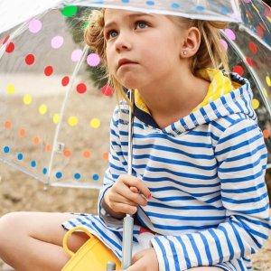 7折 $15收封面波点泡泡伞最后一天:Totes 母亲节大促 收儿童可爱雨靴、雨伞