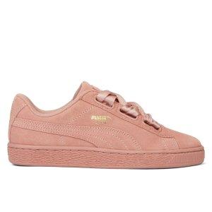 Puma麂皮 Heart Satin II 蝴蝶结滑板鞋