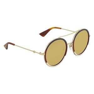 075c911cb15 GucciBrown Round Ladies Sunglasses GG0061S 015 Brown Round Ladies Sunglasses  GG0061S 015