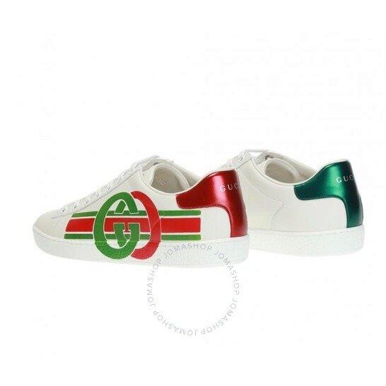 Interlocking G Ace双尾女款小白鞋