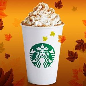 8月27日正式开售Starbucks 南瓜拿铁强势回归