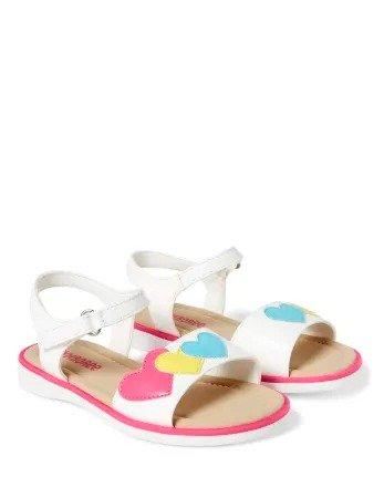 女童小心心凉鞋