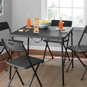 Black Friday Sale Live Mainstays 5 Piece Card Table And Four Chairs Set Multiple Colors Dealmoon