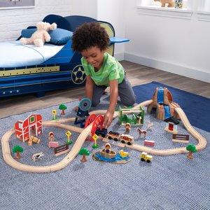 $62.22(原价$131.33)KidKraft 农场火车玩具套装