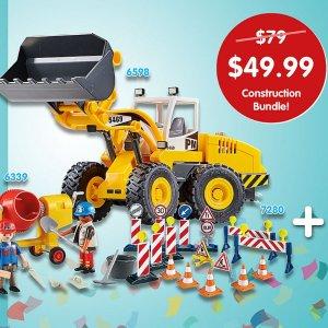 $49.99(原价$79)Playmobil 摩比世界 挖土机场景 边玩边学习