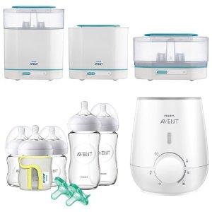 Philips热奶器+奶瓶消毒+奶瓶套装