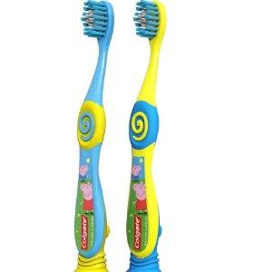 $4.72(原价$7.49)Colgate 高露洁 柔软刷毛小猪佩琪儿童牙刷2件套