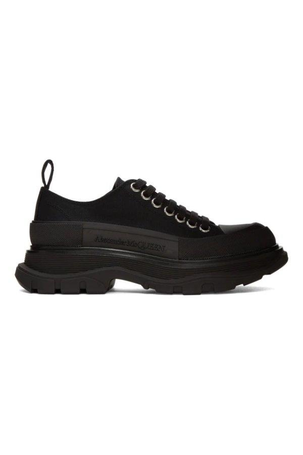 Black Canvas Tread 厚底鞋