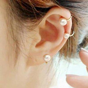 2色选 $6.99 精灵复古styleBleSky 珍珠耳骨夹 杨超越也在带 没有耳洞也能美到飞起