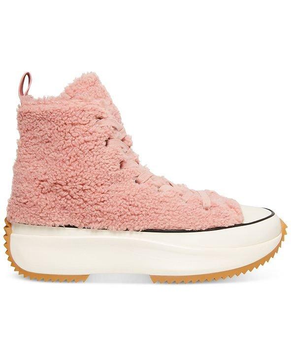 绒绒高帮运动鞋