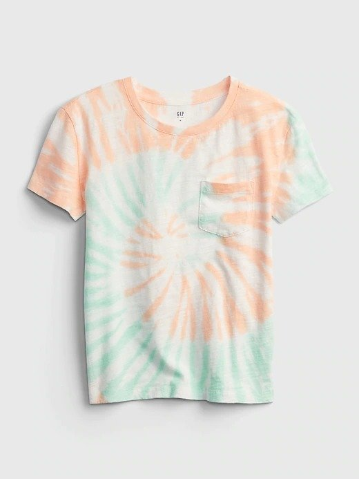100% 有机棉 儿童、大童蜡染风T恤