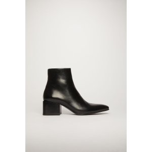 Acne StudiosPatent ankle boots Black