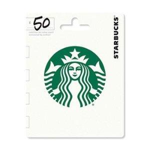 星巴克 $50 礼品卡