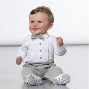 5折 粉色豹纹套装$19Deux par Deux 好柔柔的宝宝衣 亲肤有机棉 $24.5收小绅士服