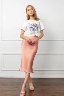 J.ING Women's Skirts Peachy Pearl Skirt Pink